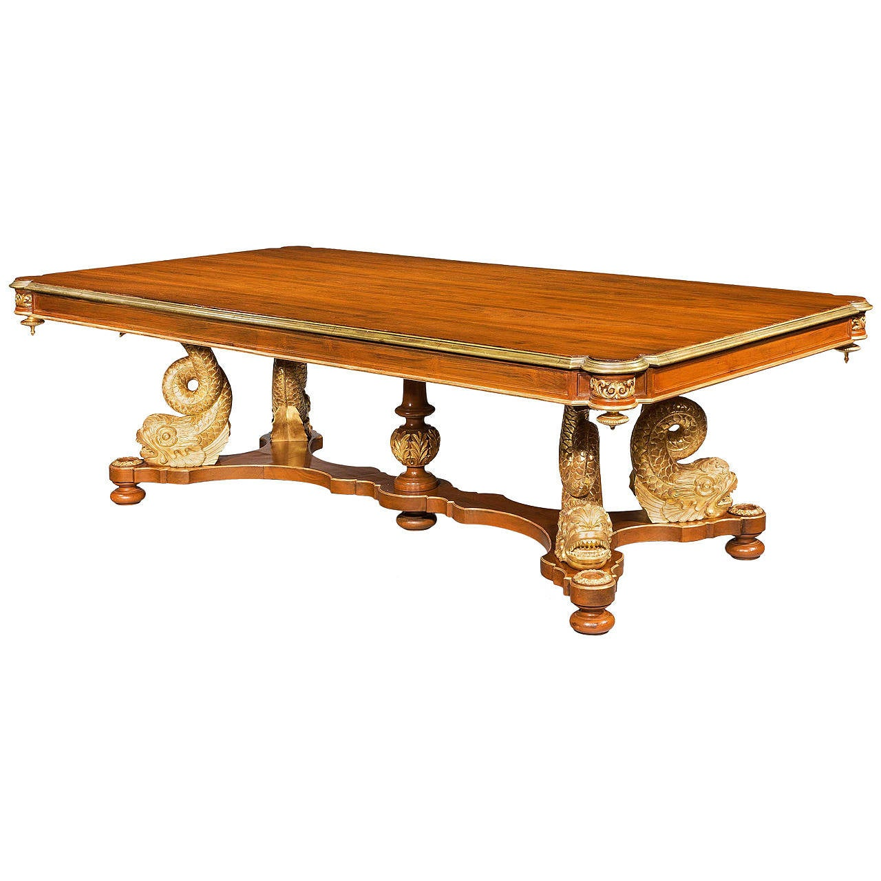 A rare 19th Century mahogany and parcel gilt Centre Table