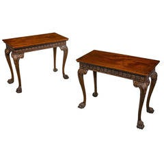 Pair of Chippendale Style Pier Tables