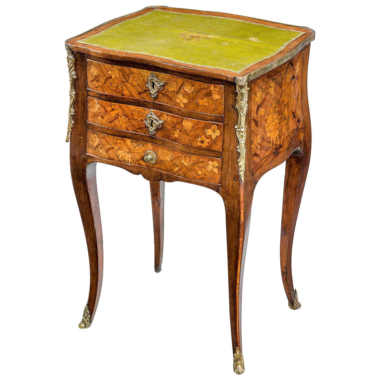 Late 19th-Century Kingwood Three-Drawer Night Table