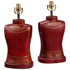 Pair of 20th Century Torso-Shaped Lamps