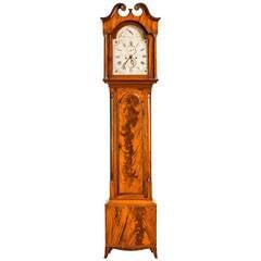18th Century Mahogany Longcase Clock by Chas Howe of London