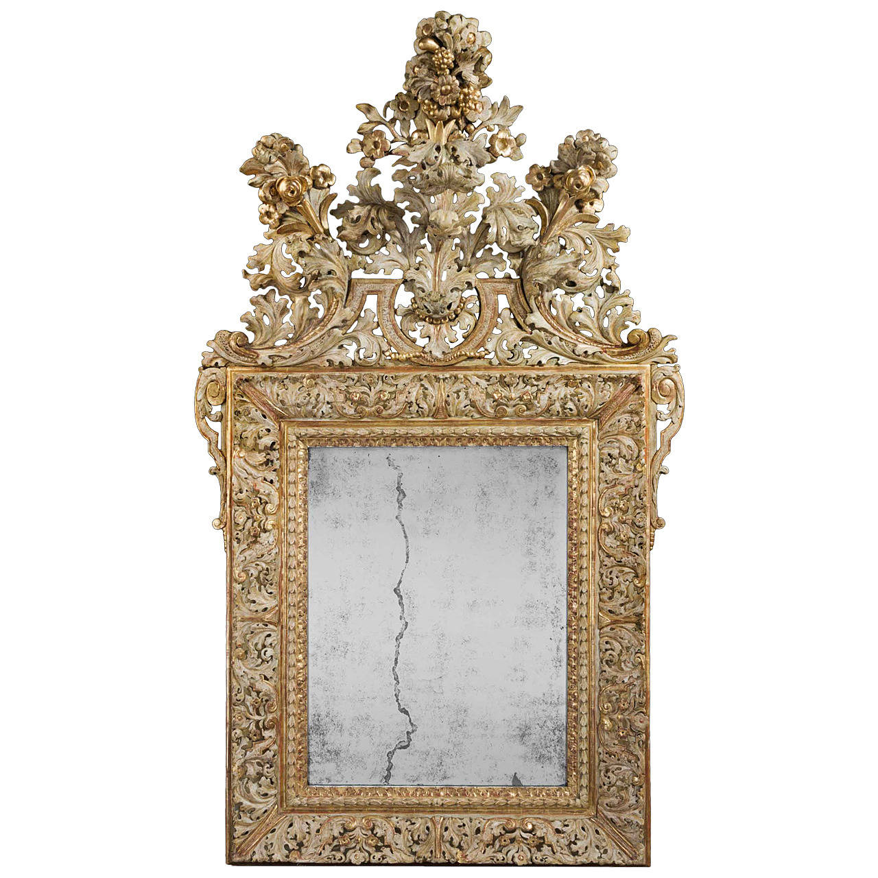 Early 18th Century Swedish Mirror For Sale