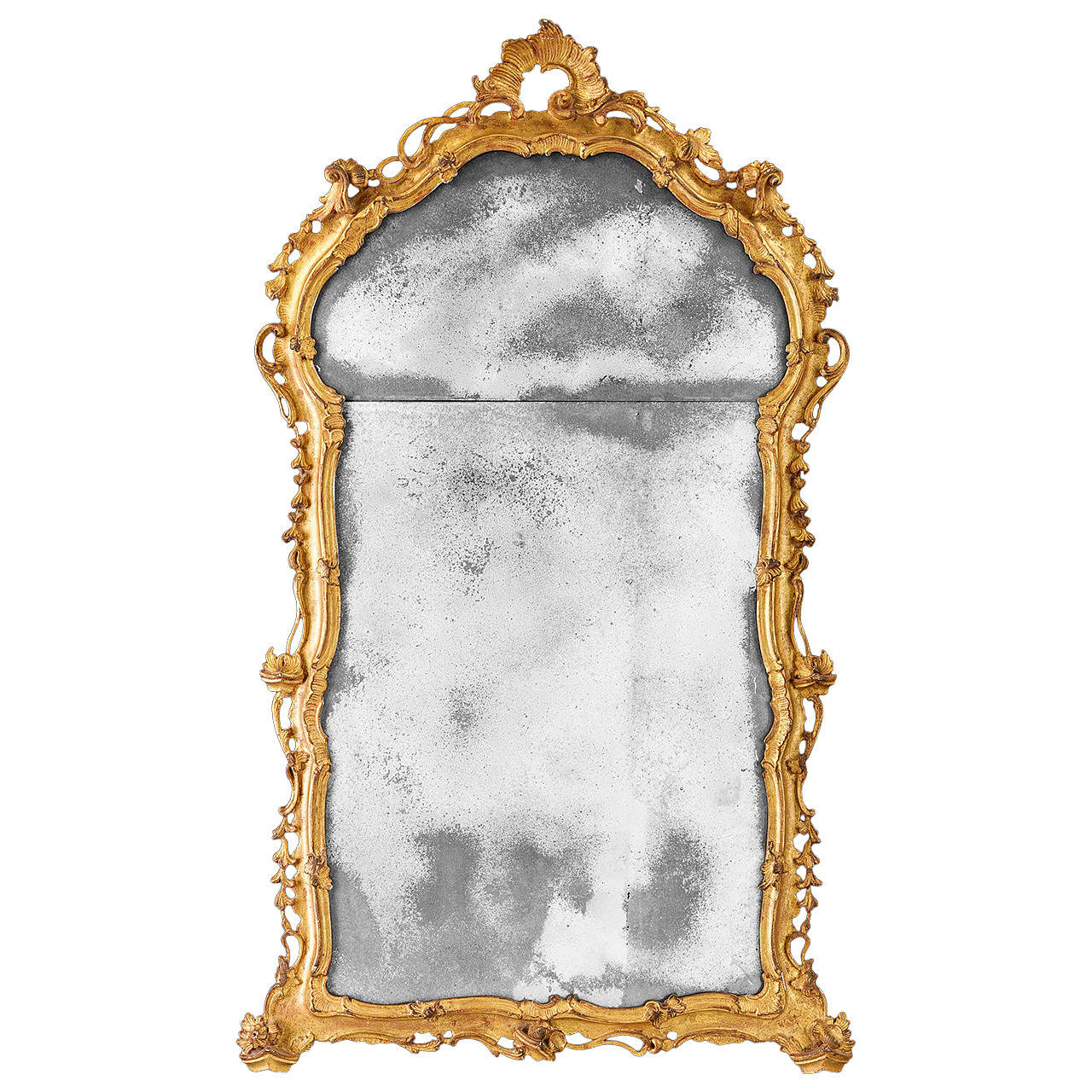18th Century Carved Giltwood Mirror