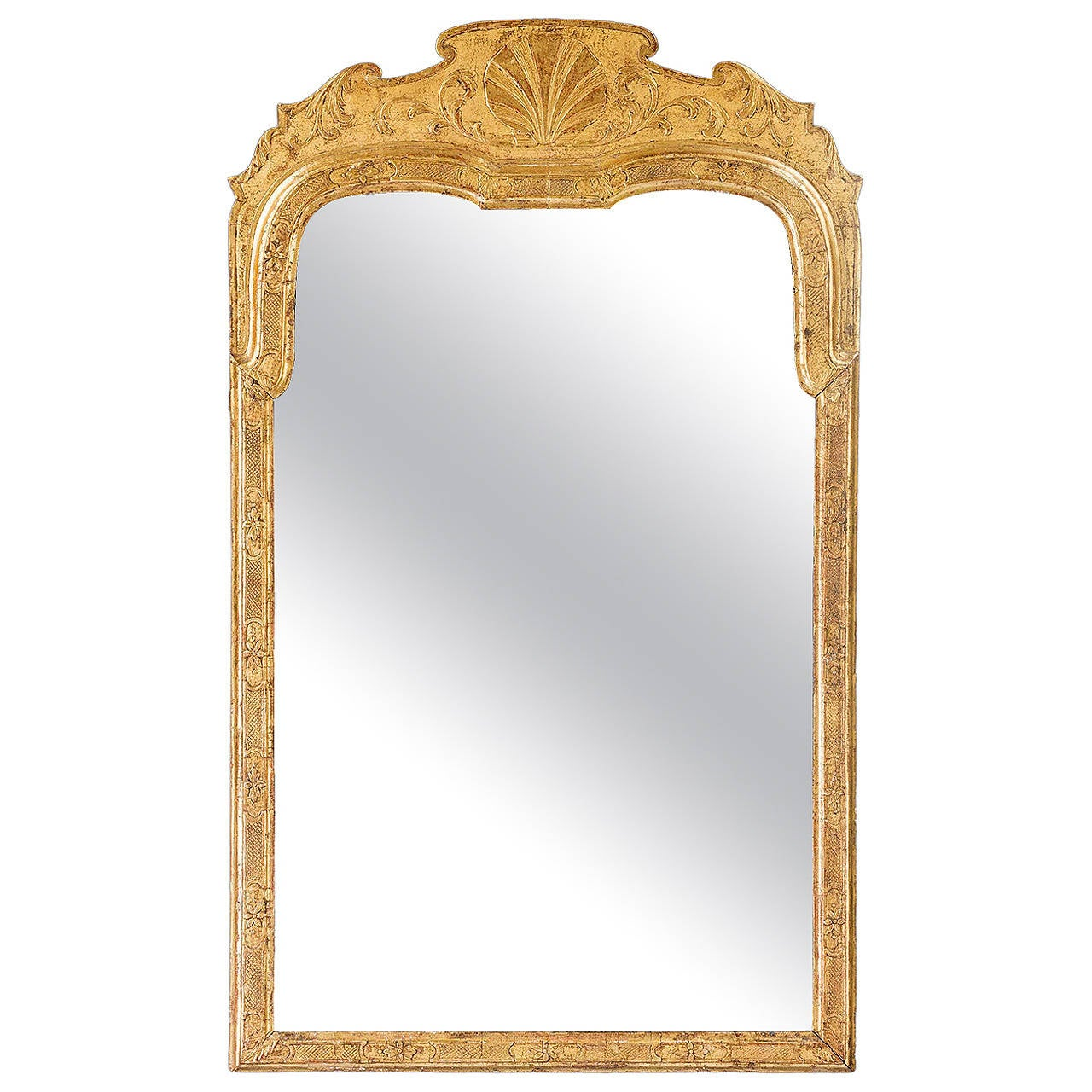 Queen Anne Period GIltwood Mirror