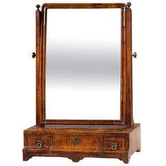 Early 18th Century Walnut Dressing Mirror