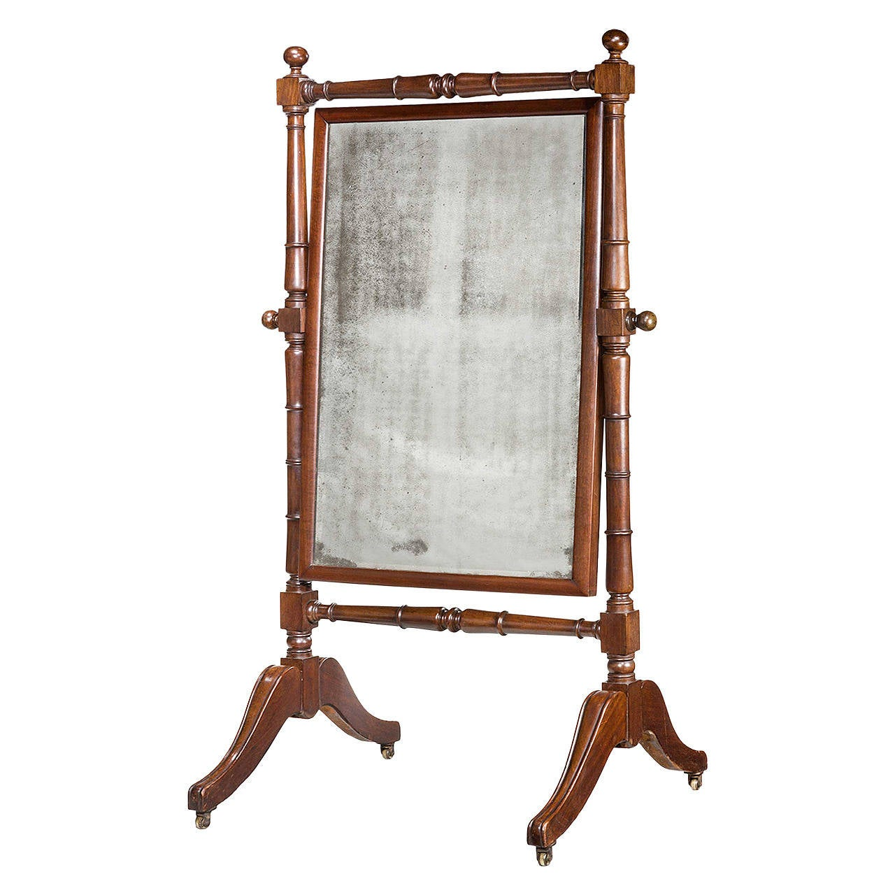 Regency period mahogany cheval mirror for sale at 1stdibs for Cheval mirror