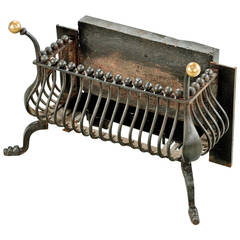 Late Regency Period Steel and Brass Grate