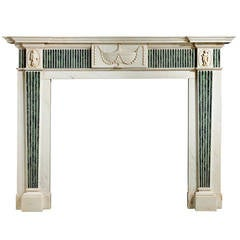 George III Neoclassical Marble Fireplace