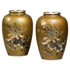 Pair of Japanese 19th Century Bronze Vases