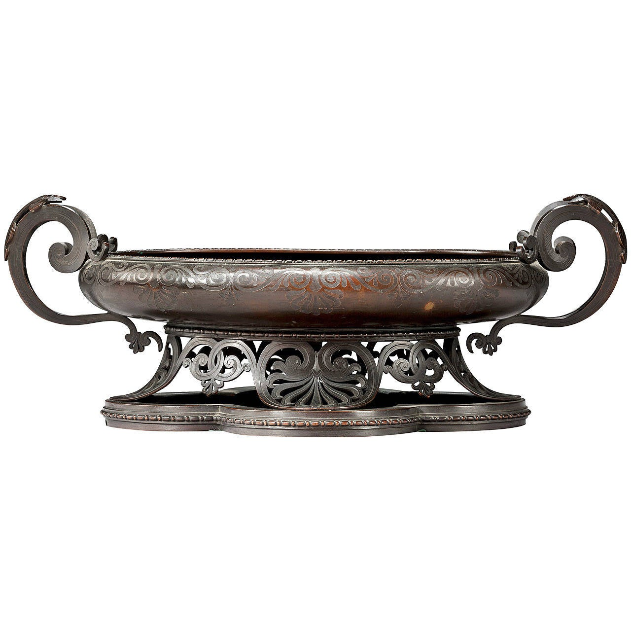 19th Century Bronze Bowl