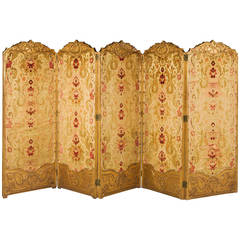 19th Century French Giltwood Four-Fold Screen