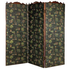 19th Century Three Fold Screen
