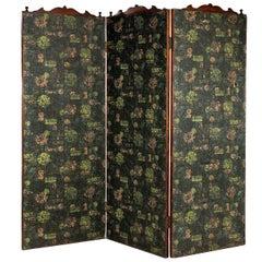 19th Century Three Fold Screen