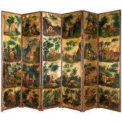 Mid-18th Century Six-Fold Screen