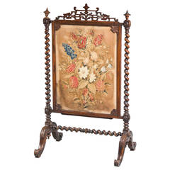 19th Century Rosewood Fire Screen