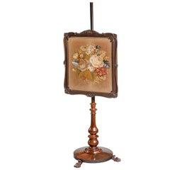 19th Century Adjustable Pole Screen