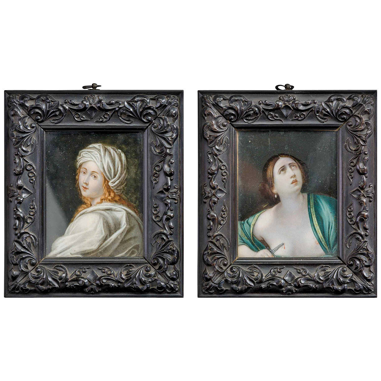 Pair of 19th Century Framed Miniature Paintings