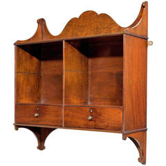 George Ill Period Pale Mahogany Hanging Shelves