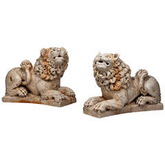 Pair of mid 20th century Italian Lions