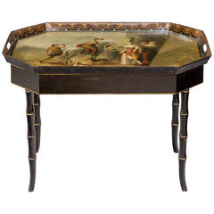 Mid-19th Century Tole Tray Table