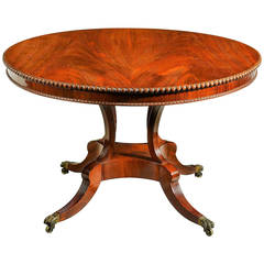 Regency Period Mahogany Circular Table