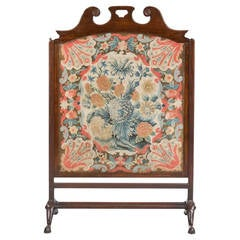 Chippendale Period Mahogany Fire Screen