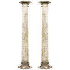 Pair Of Late 20th Century Stone Columns