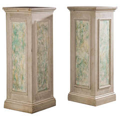 Pair of Large Square Section Columns