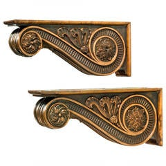Pair of Late 19th Century Bronze Supports