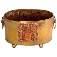 Late 18th Century Brass and Copper Planter