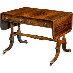 Regency Period Sofa Table with Turned Stretcher