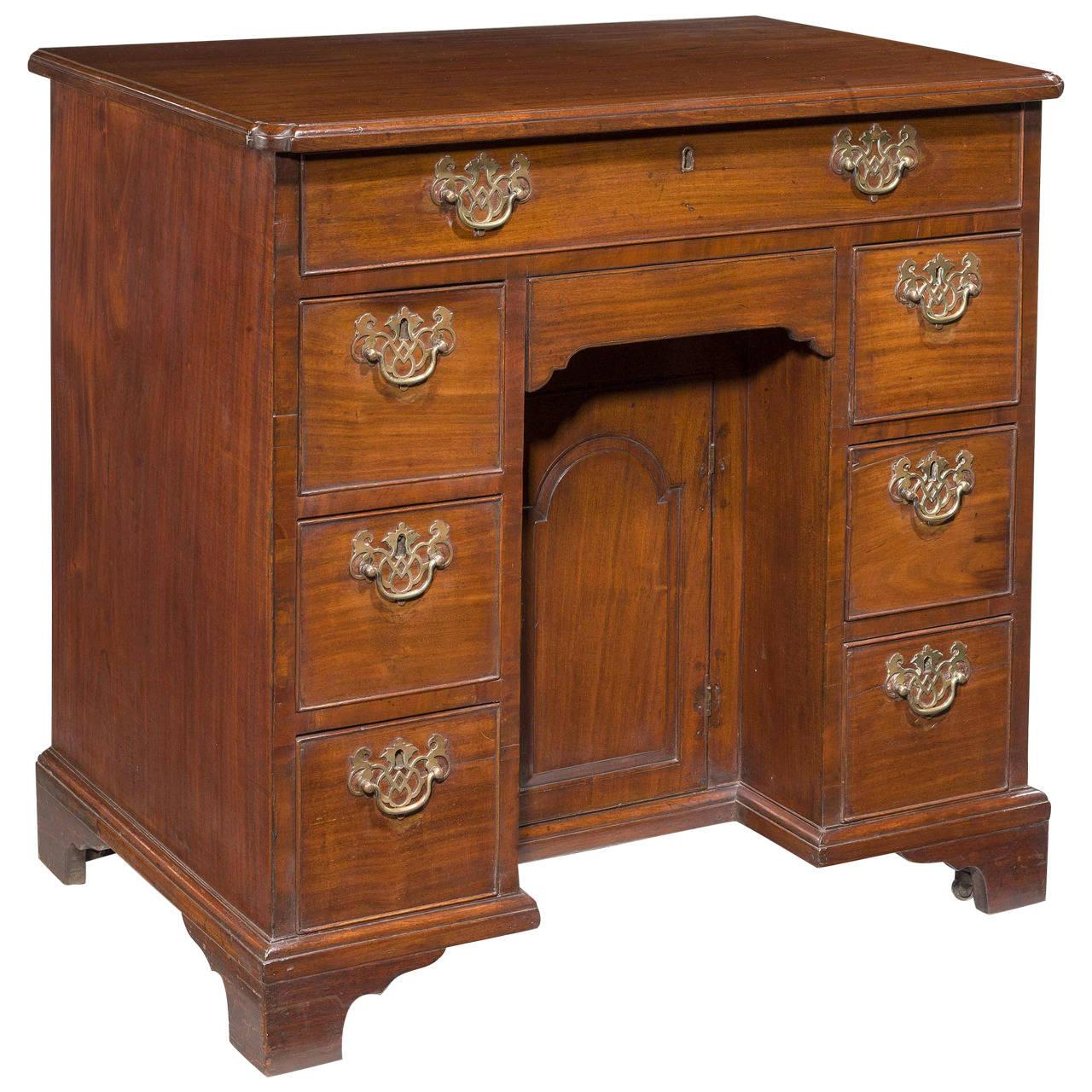 18th Century Mahogany Knee-Hole Desk