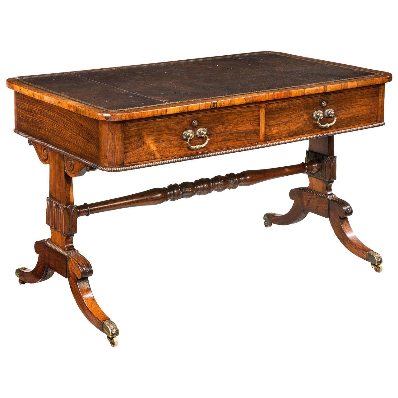 Regency Period Rosewood Library Table For Sale at 1stdibs