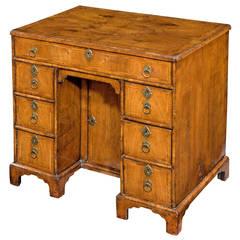 George ll Period Walnut Knee Hole Desk