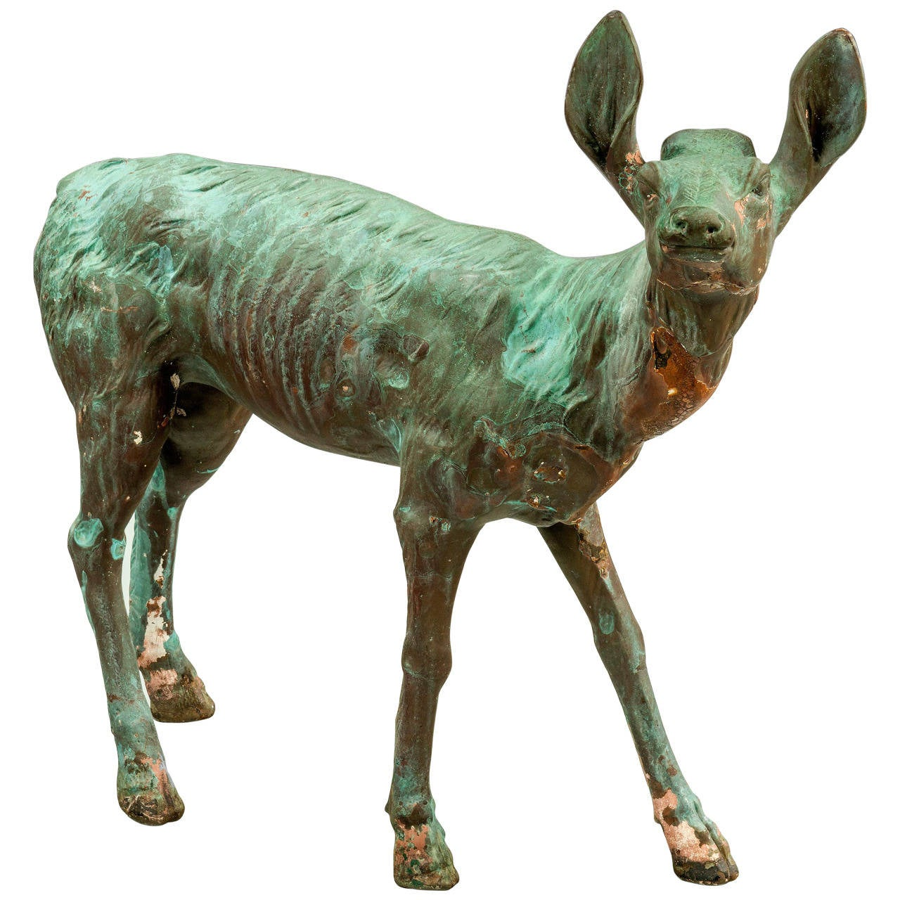 Late 19th Century Bronze Figure of a Fawn For Sale