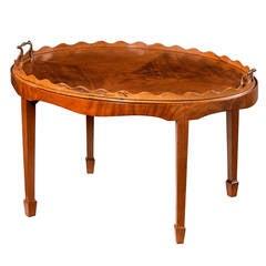 George III Style Oval Mahogany Tray Table