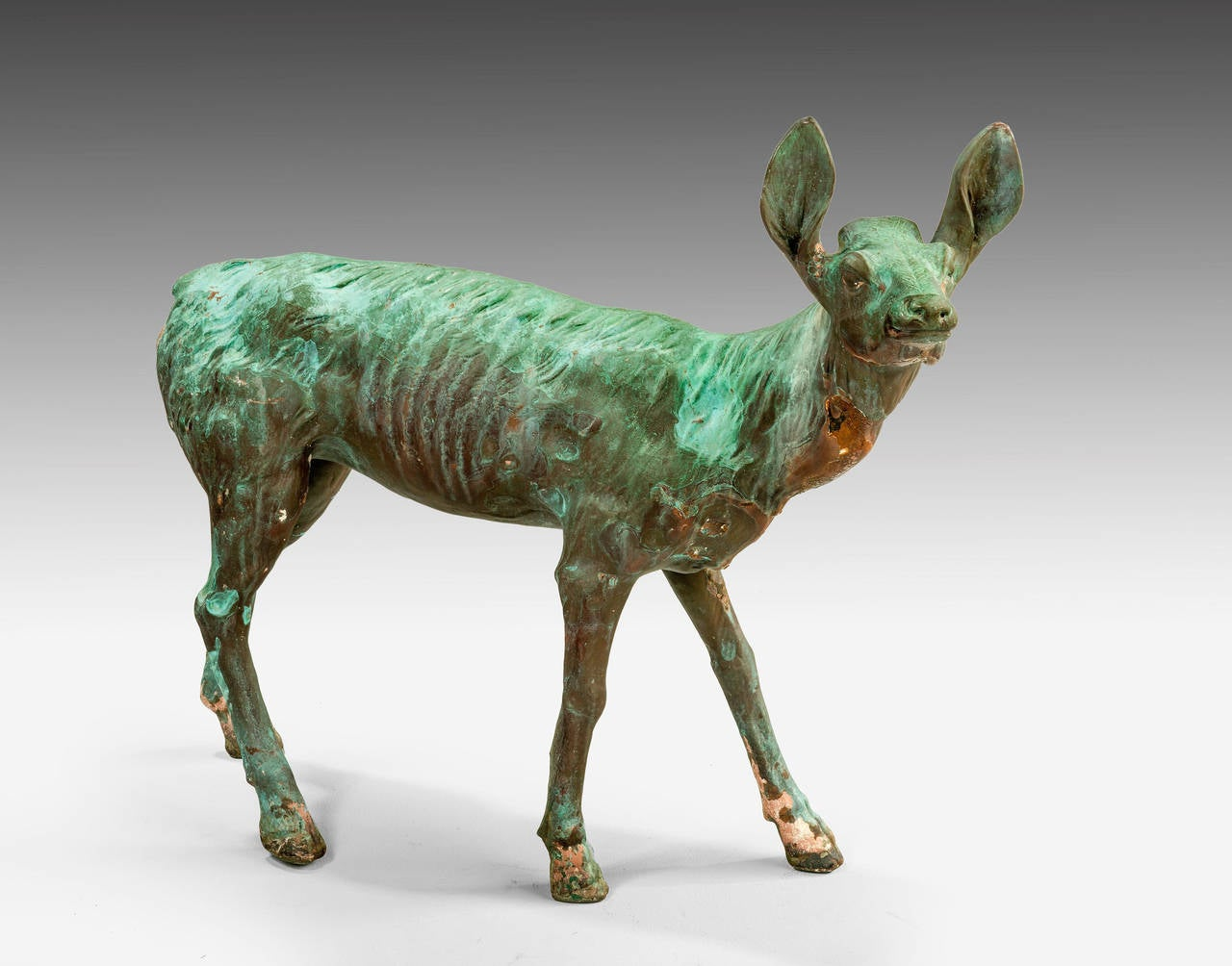 British Late 19th Century Bronze Figure of a Fawn For Sale