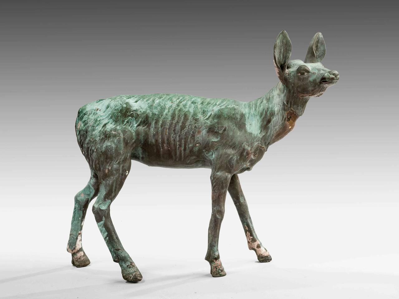 Late 19th Century Bronze Figure of a Fawn For Sale 4