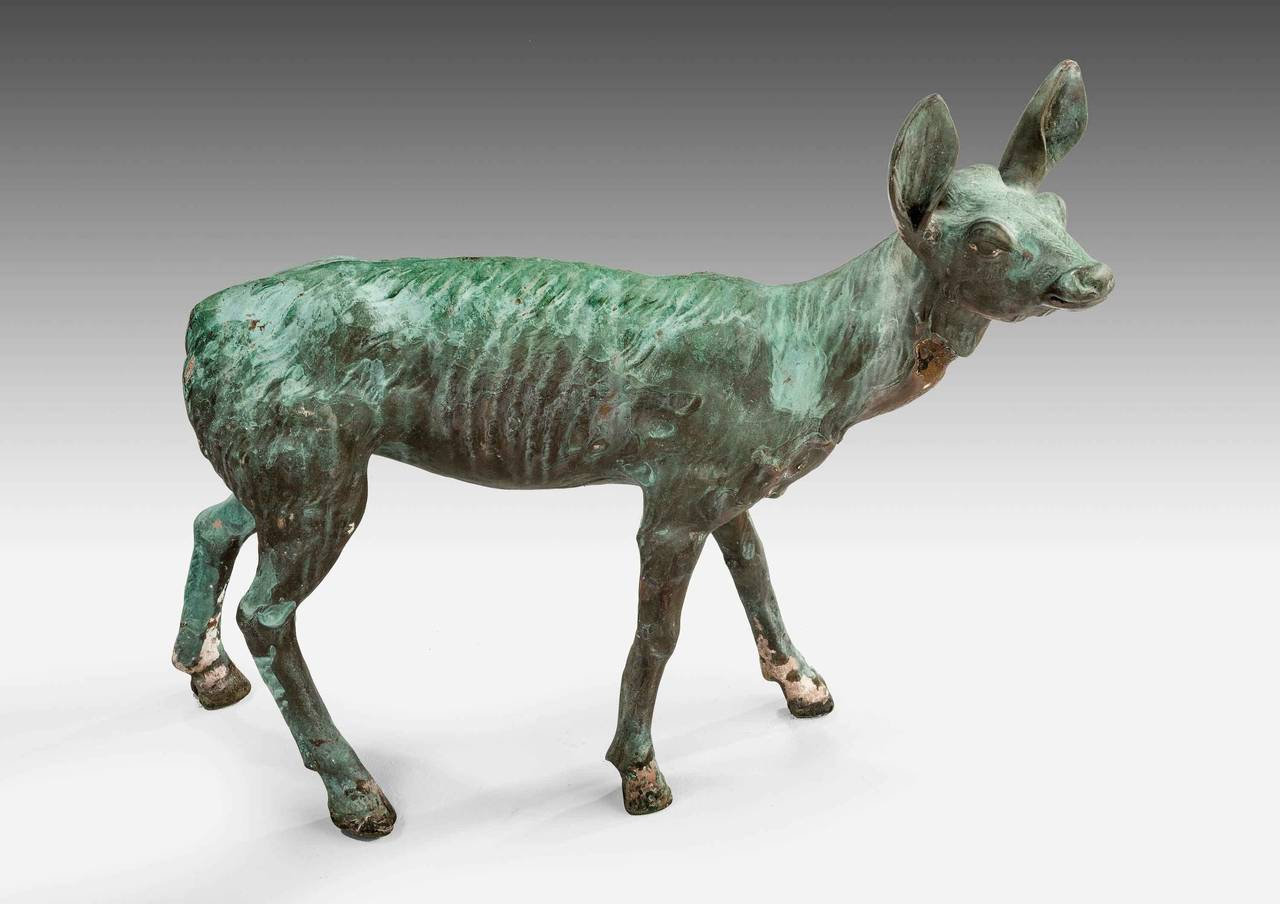 Late 19th Century Bronze Figure of a Fawn For Sale 3