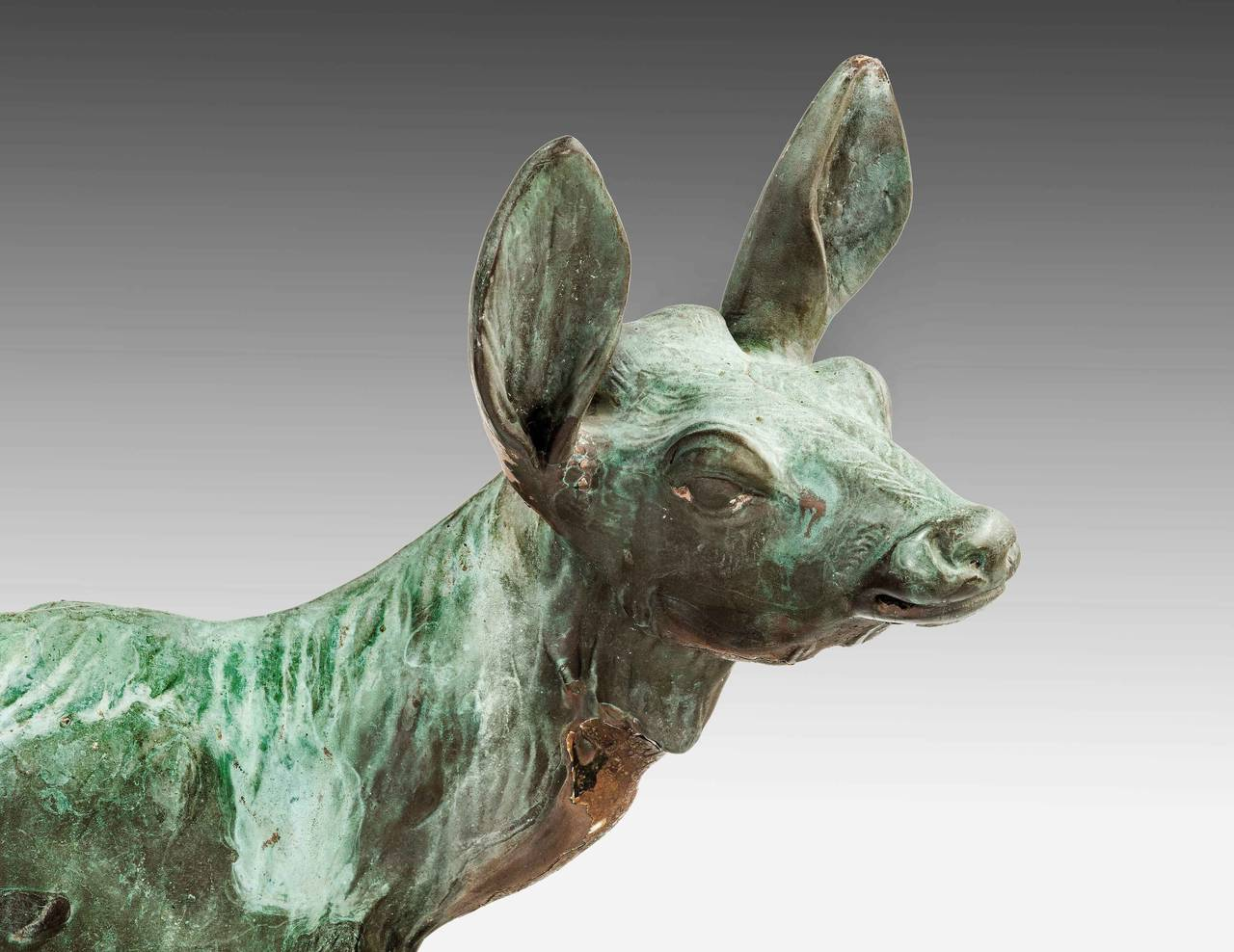 Late 19th Century Bronze Figure of a Fawn For Sale 2