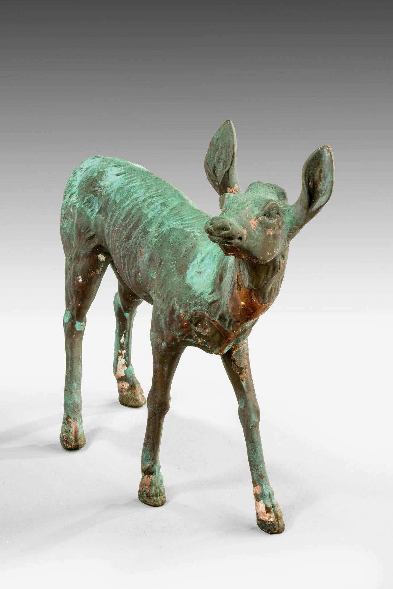 Late 19th Century Bronze Figure of a Fawn In Excellent Condition For Sale In Peterborough, Northamptonshire