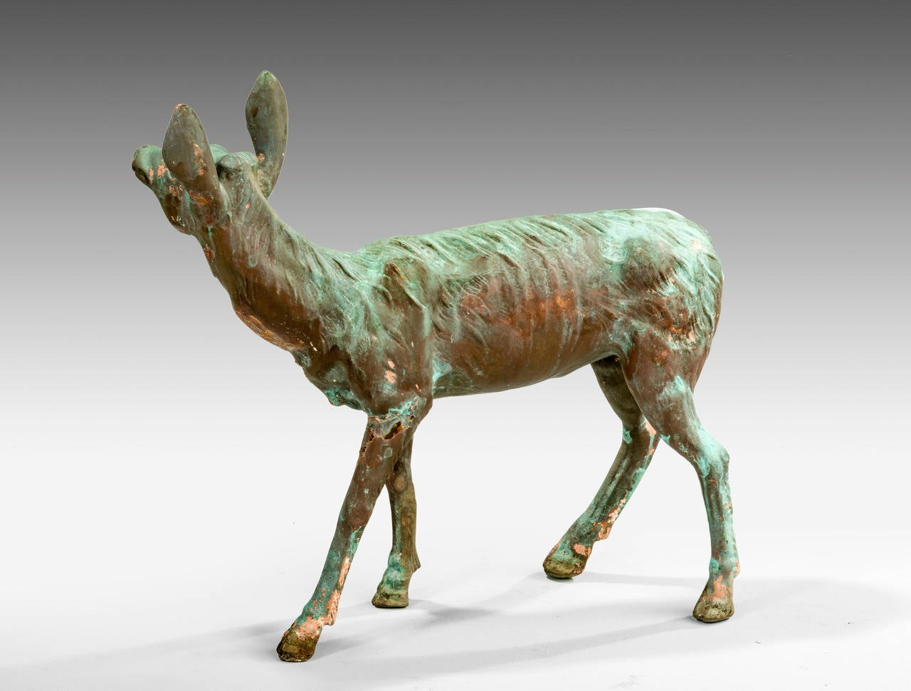 Late 19th Century Bronze Figure of a Fawn For Sale 1