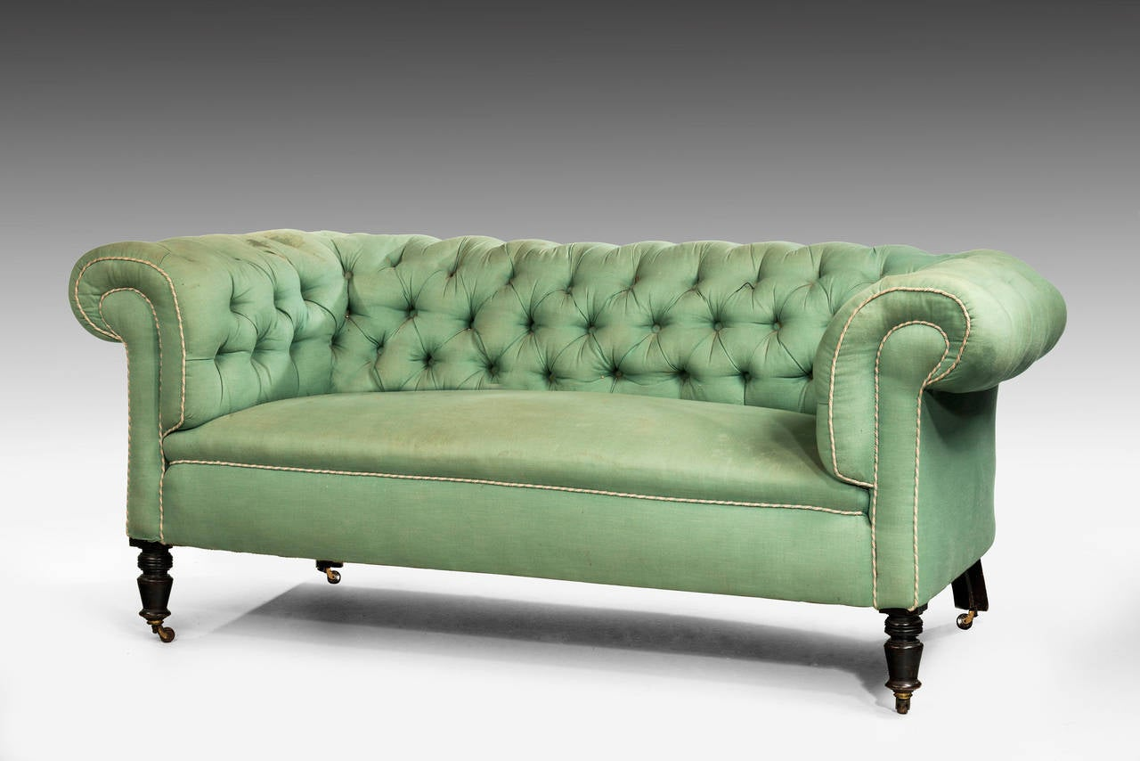 Edwardian Period Chesterfield Sofa 2