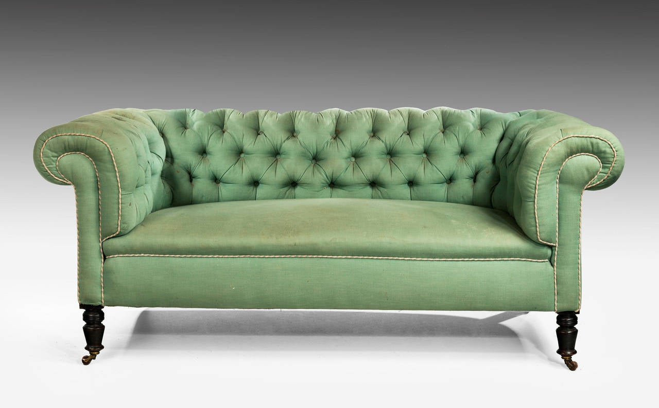 Edwardian Period Chesterfield Sofa 3