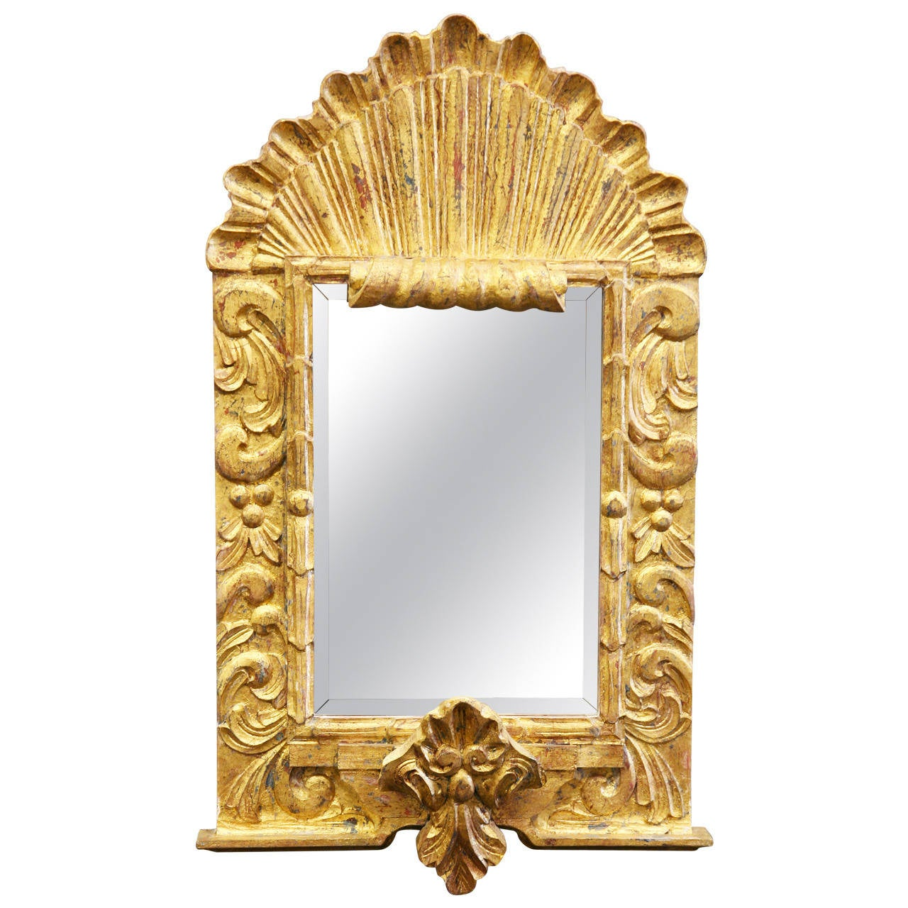 Antique style gilded mirror at 1stdibs for Old style mirror