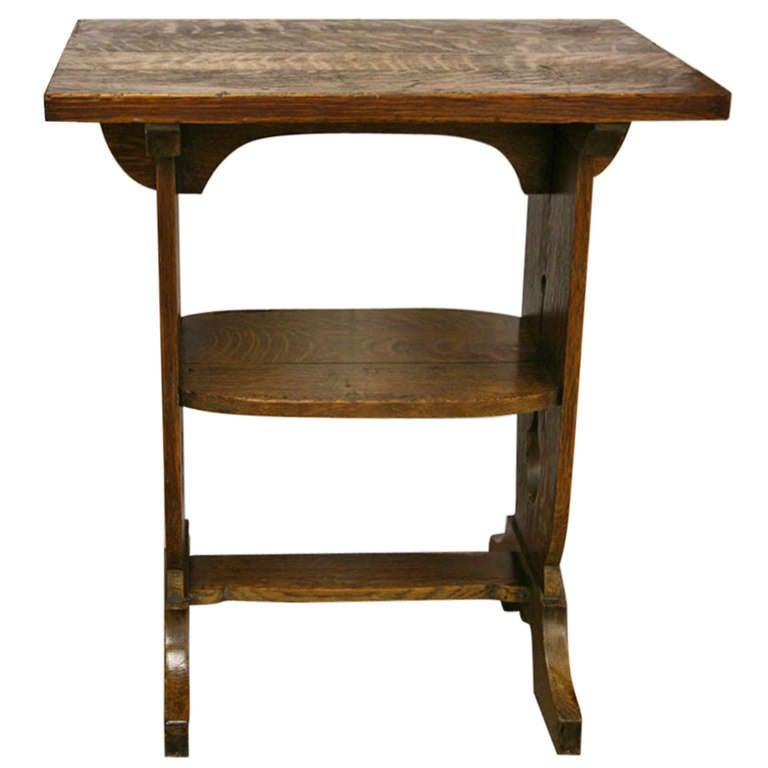 arts and crafts table at 1stdibs. Black Bedroom Furniture Sets. Home Design Ideas