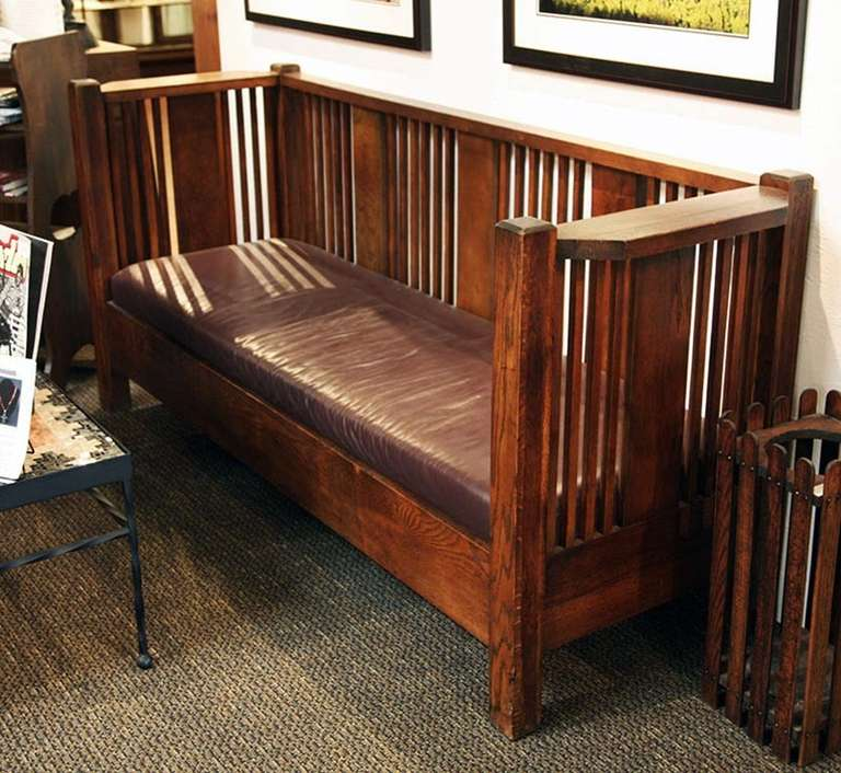 arts and crafts couch and chair at 1stdibs. Black Bedroom Furniture Sets. Home Design Ideas
