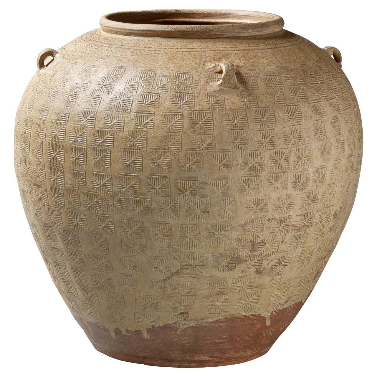 Eastern Han dynasty pottery jar, 2nd century AD