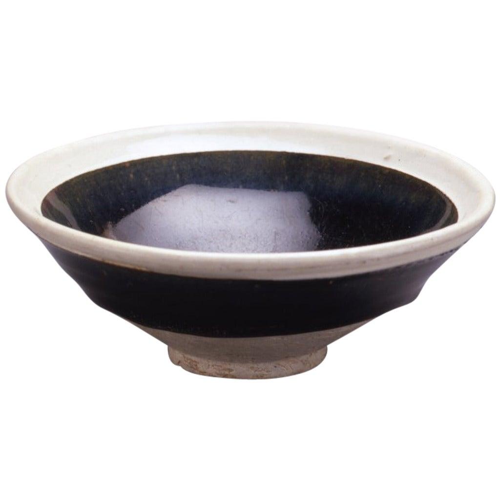 Small Cizhou Black Glazed Conical Bowl At 1stdibs