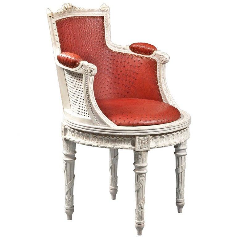 louis xvi fauteuil de bureau at 1stdibs. Black Bedroom Furniture Sets. Home Design Ideas